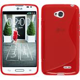 Silicone Case for LG L70 S-Style red