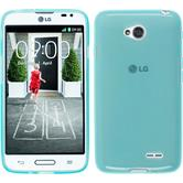Silicone Case for LG L70 transparent turquoise