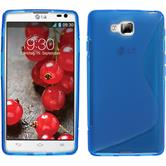 Silicone Case for LG Optimus L9 II S-Style blue
