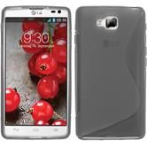 Silicone Case for LG Optimus L9 II S-Style gray