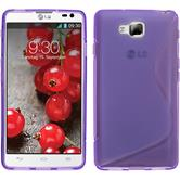 Silicone Case for LG Optimus L9 II S-Style purple