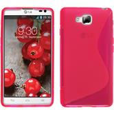 Silicone Case for LG Optimus L9 II S-Style hot pink