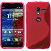 Silicone Case for Motorola Moto X S-Style hot pink