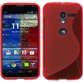 Silicone Case for Motorola Moto X S-Style red