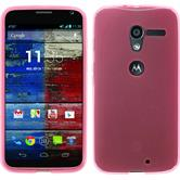 Silicone Case for Motorola Moto X transparent pink