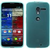 Silicone Case for Motorola Moto X transparent turquoise