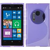 Silicone Case for Nokia Lumia 1020 S-Style purple