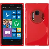 Silicone Case for Nokia Lumia 1020 S-Style red