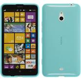 Silicone Case for Nokia Lumia 1320 transparent turquoise