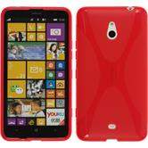 Silikon Hülle Nokia Lumia 1320 X-Style rot + 2 Schutzfolien