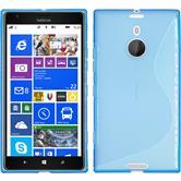 Silikon Hülle Nokia Lumia 1520 S-Style blau + 2 Schutzfolien