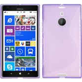 Silicone Case for Nokia Lumia 1520 S-Style purple