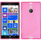 Silicone Case for Nokia Lumia 1520 S-Style hot pink
