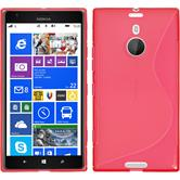 Silicone Case for Nokia Lumia 1520 S-Style red