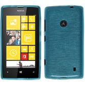 Silicone Case for Nokia Lumia 520 brushed blue