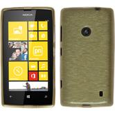 Silicone Case for Nokia Lumia 520 brushed gold