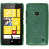 Silicone Case for Nokia Lumia 520 brushed green