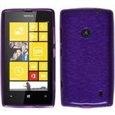 Silicone Case for Nokia Lumia 520 brushed purple