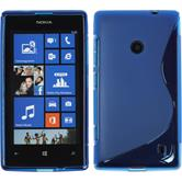 Silicone Case for Nokia Lumia 520 S-Style blue