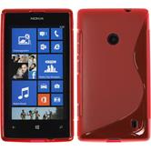 Silicone Case for Nokia Lumia 520 S-Style red