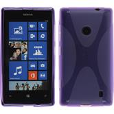 Silicone Case for Nokia Lumia 520 X-Style purple