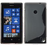 Silicone Case for Nokia Lumia 525 S-Style gray