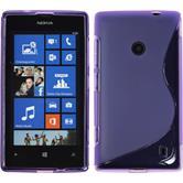 Silicone Case for Nokia Lumia 525 S-Style purple
