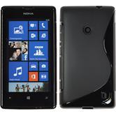 Silikon Hülle Lumia 525 S-Style schwarz