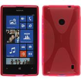 Silicone Case for Nokia Lumia 525 X-Style hot pink