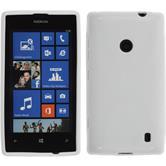 Silikon Hülle Nokia Lumia 525 X-Style weiß + 2 Schutzfolien
