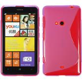 Silicone Case for Nokia Lumia 625 S-Style purple