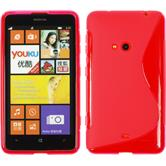 Silicone Case for Nokia Lumia 625 S-Style hot pink
