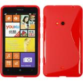Silicone Case for Nokia Lumia 625 S-Style red