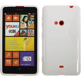Silicone Case for Nokia Lumia 625 S-Style white