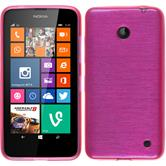 Silicone Case for Nokia Lumia 630 brushed hot pink