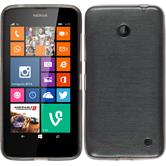 Silicone Case for Nokia Lumia 630 brushed silver