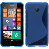 Silicone Case for Nokia Lumia 630 S-Style blue