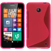 Silicone Case for Nokia Lumia 630 S-Style hot pink