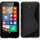 Silicone Case for Nokia Lumia 630 S-Style black