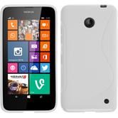 Silicone Case for Nokia Lumia 630 S-Style white