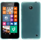 Silicone Case for Nokia Lumia 630 transparent turquoise