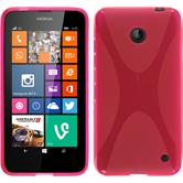 Silicone Case for Nokia Lumia 630 X-Style hot pink