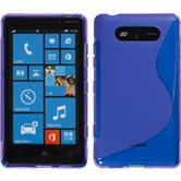 Silicone Case for Nokia Lumia 820 S-Style purple