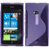 Silicone Case for Nokia Lumia 900 S-Style purple