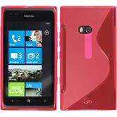 Silicone Case for Nokia Lumia 900 S-Style hot pink