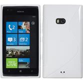 Silicone Case for Nokia Lumia 900 S-Style white