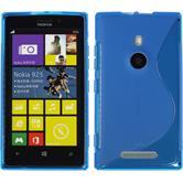 Silicone Case for Nokia Lumia 925 S-Style blue
