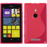 Silicone Case for Nokia Lumia 925 S-Style hot pink