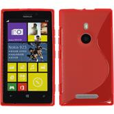 Silicone Case for Nokia Lumia 925 S-Style red