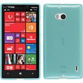 Silikon Hülle Nokia Lumia 930 transparent türkis + 2 Schutzfolien